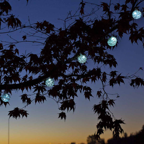 Aurora Glow Solar Glass Lantern String Lights By Allsop