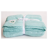 Mint Cable Knit Throw by Your Lovely Bedding