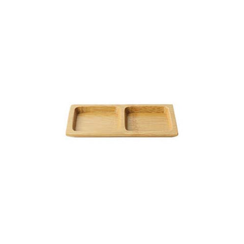 Double Divided Bamboo Plates
