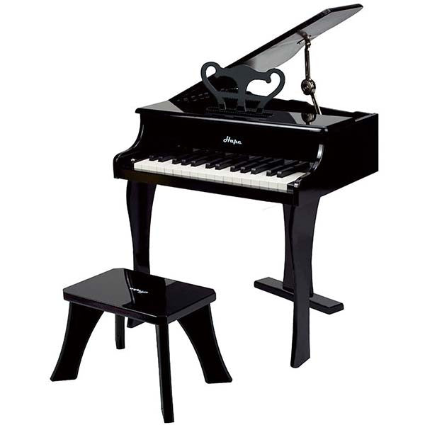 Black Kids Grand Piano by Hape Toys