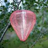Coral Soji Silk Effects Teardrop Lanterns by Allsop