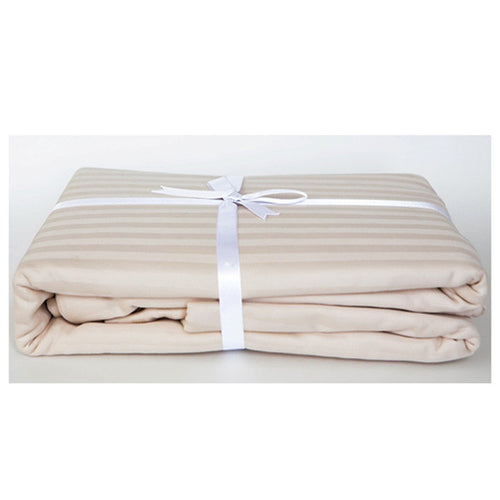 Lovely Ecru Stripe Sateen Duvet Cover Set by Your Lovely Bedding