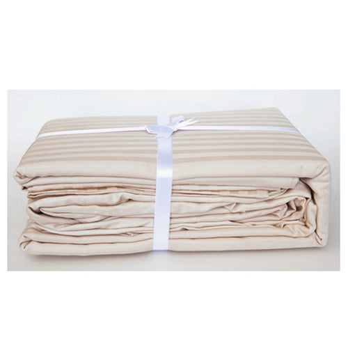 Lovely Ecru Stripe Sateen Sheet Set by Your Lovely Bedding