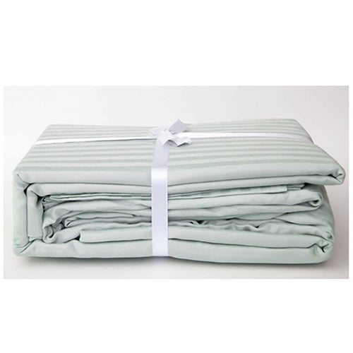 Sea Foam Stripe Sateen Sheet Set by Your Lovely Bedding
