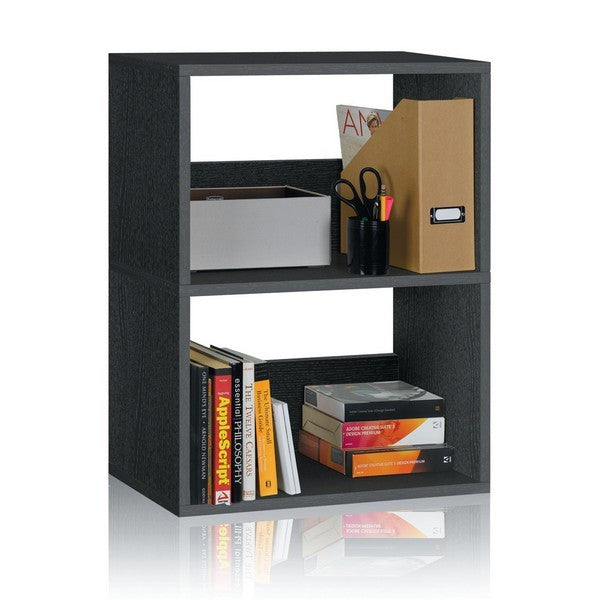 Black Duplex Bookshelf by Way Basics
