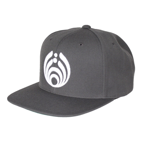 Bassnectar Snapback - White on Grey