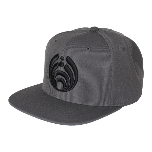 Bassnectar Snapback - Black on Grey
