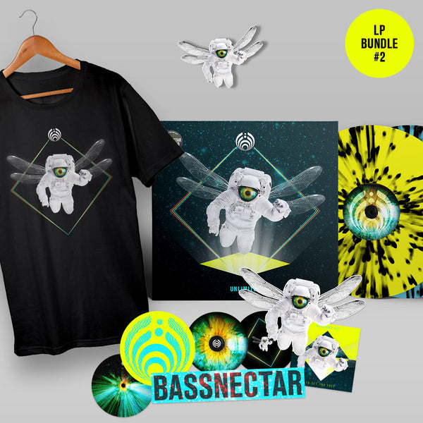 Bassnectar Unlimited LP + T-Shirt + Sticker Pack + Pin