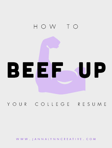 how to beef up your college resume college resume