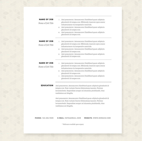 ... Cv Microsoft Word Template · Cover Letter Template ...  Classic Resume Template