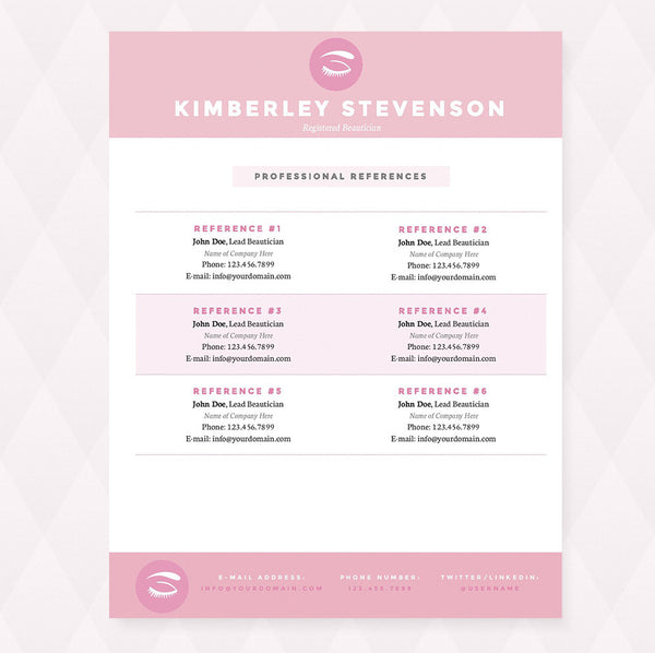 ... Makeup Artist Resume, Cover Letter U0026 Reference Template Package