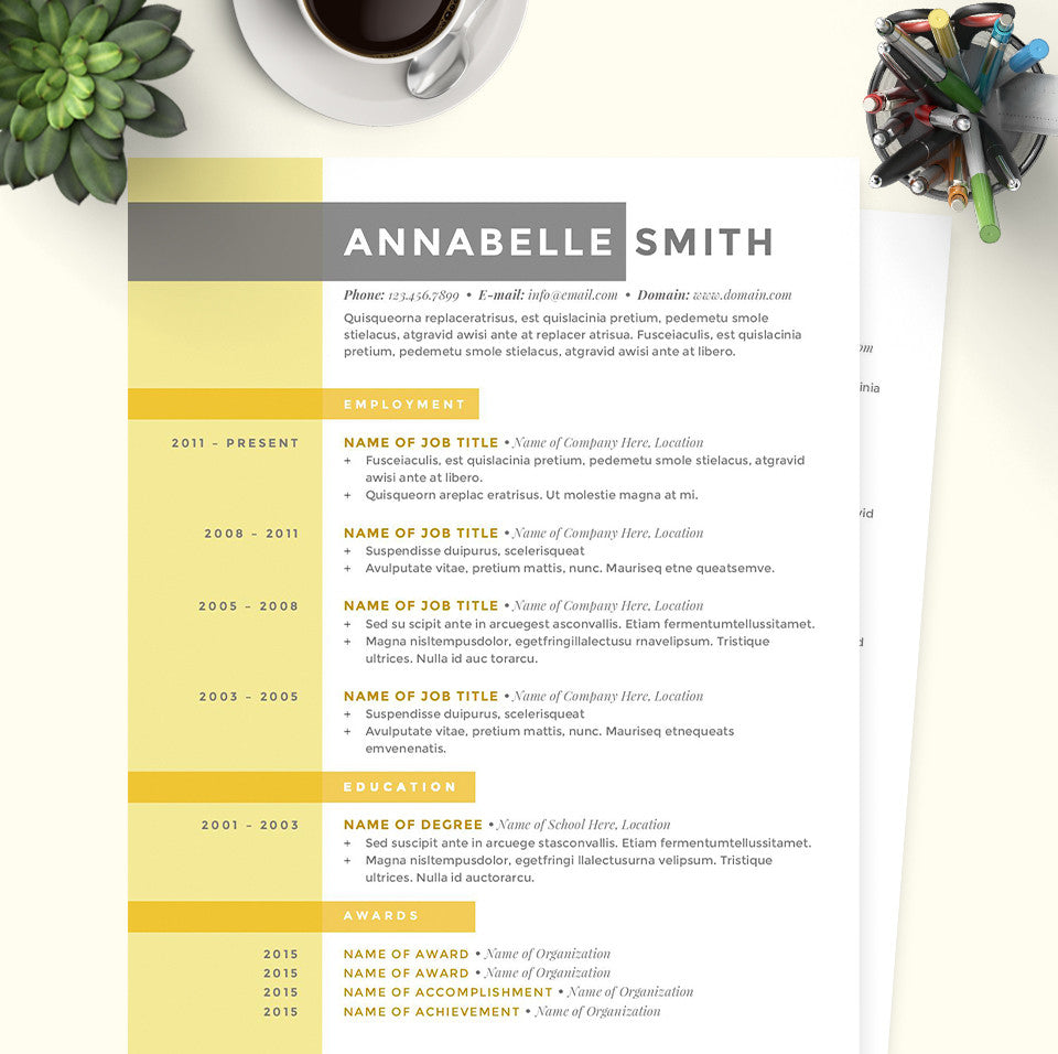 Criss Cross Resume Cover Letter References Template Package – Microsoft Word References Template