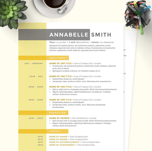 Criss Cross Resume, Cover Letter & References Template Package