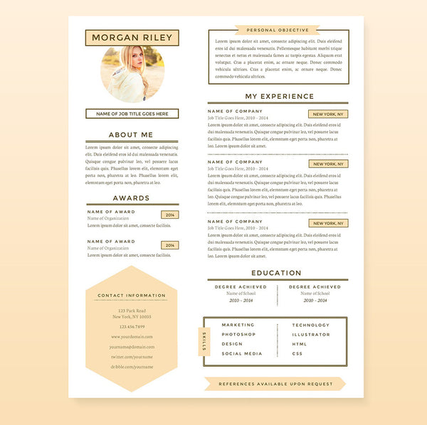 pretty resume cover letter references template