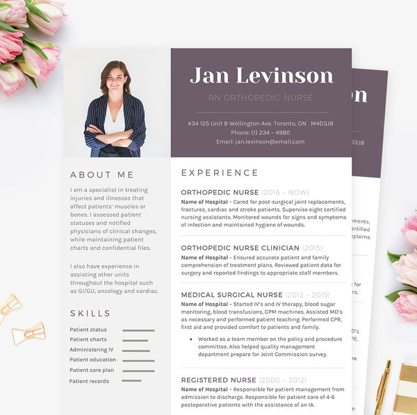 cv template for nurse