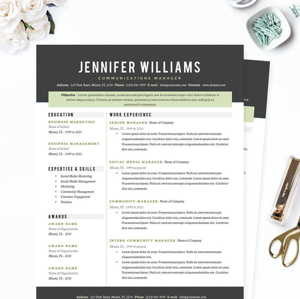 Cv Resume Template  Management Resumes
