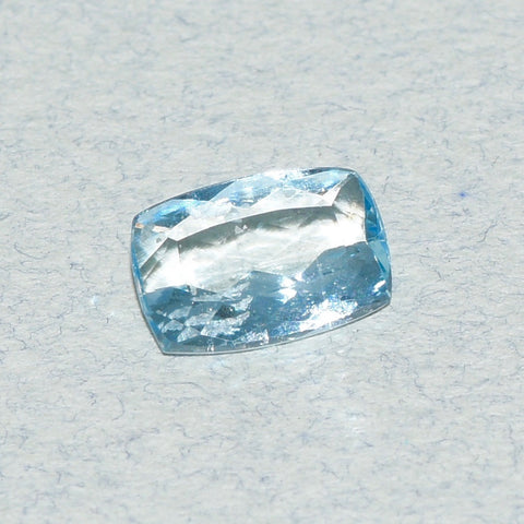 1.61 ct natural Aquamarine, Modified Cushion Shape, Medium Blue color