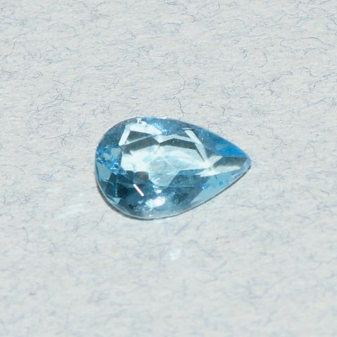 0.78 ct Aquamarine, Pear Shape, Intense Blue