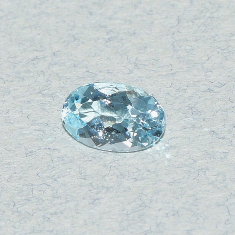 0.71 ct Aquamarine, Pear Shape, Intense Blue** Redo Pic