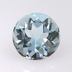 0.54 ct. natural Aquamarine, Round shape