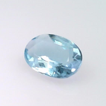 0.57 ct natural Aquamarine, Oval shape
