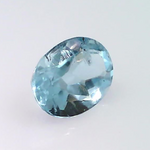 0.72 ct natural Aquamarine, Oval shape