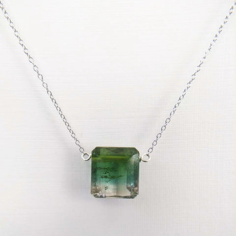 6.63 ct Watermelon Tourmaline with Sterling Silver Chain