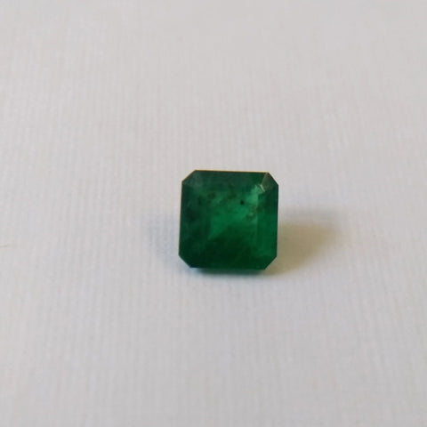 0.61ct Square Emerald cut Emerald