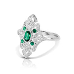 Diamond & Emerald Vintage Ring
