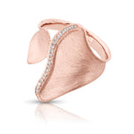 Gingko Leaf Rose Gold Ring