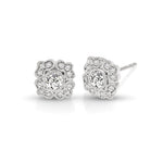 Vintage style Diamond Stud Earrings