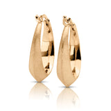 Italian Inspired Yellow Gold Hoop Earrings