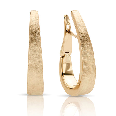 Italian Style Hoop Earrings in Yellow Gold
