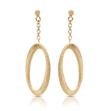 14kt Yellow Gold Oval Hanging Earrings
