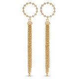 Diamond and Gold Tassel Earrings