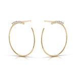 Graduating Diamond Circle Earrings