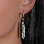 Diamond & Onyx Drop Earrings