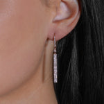 Diamond and Rose Gold Dangle Earrings