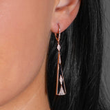 Diamond, Onyx & Pink Gold Earrings
