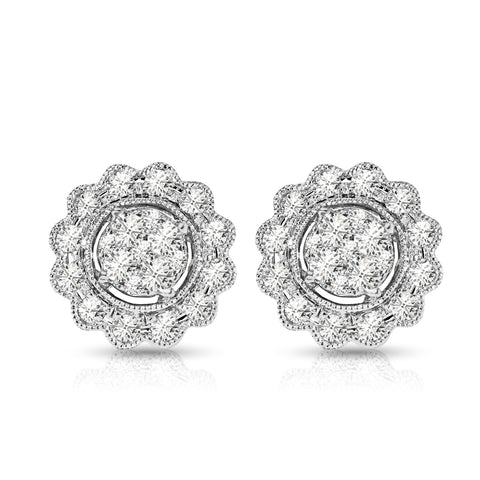Vintage Diamond Stud Earrings
