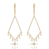Geometric Diamond Drop Earrings