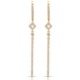 Geometric Diamond Dangle Earrings