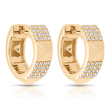 Diamond and Yellow Gold Huggie Earrings