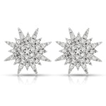 Diamond Starburst Stud Earrings
