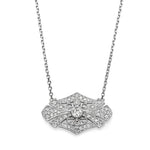 White Gold & Diamond Vintage Necklace