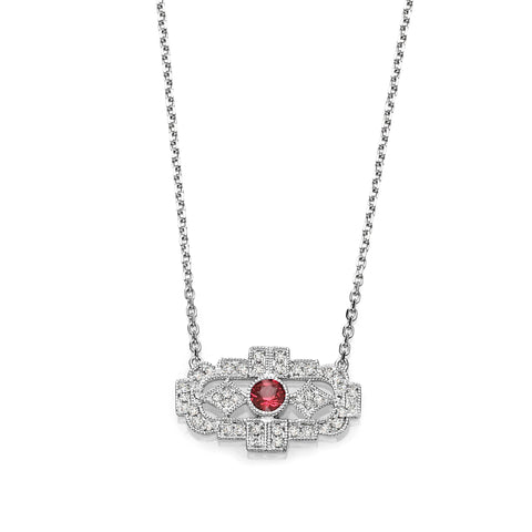 Diamond & Ruby Vintage Necklace