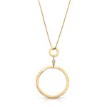 Interconnected Circles with Bezel set Diamond Necklace