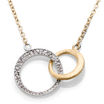 Interlocking Circle Gold and Diamond Necklace