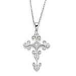 Vintage Inspired Diamond Cross Pendant