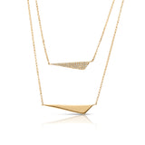 Diamond & Gold Geometric Layered Necklace